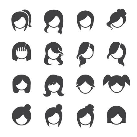 women hairstyle vector Illustration