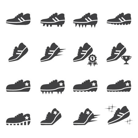 shoes icon set Ilustrace