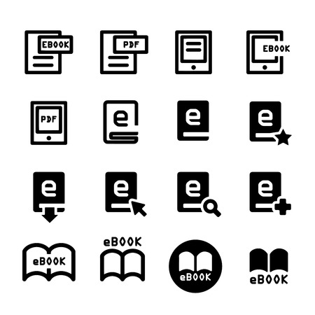ebook icon set Ilustrace