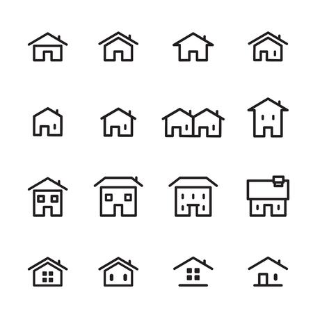 huis lijn pictogram