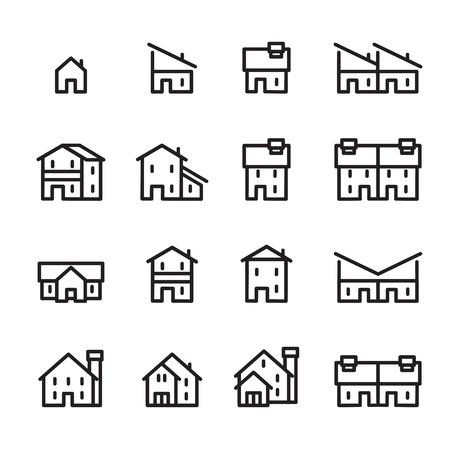 house line icon.set 2