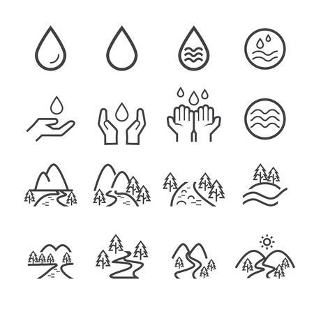 river icon set.vector eps10.
