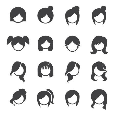 Women hairstyle vector. Illustration