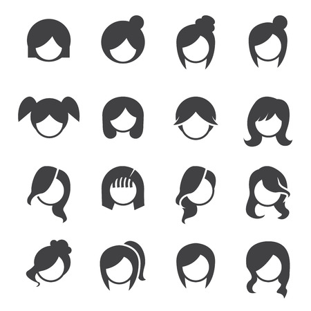 Women hairstyle vector. Ilustrace