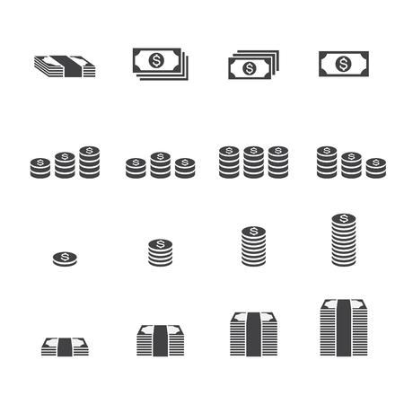 Money icon. Illustration