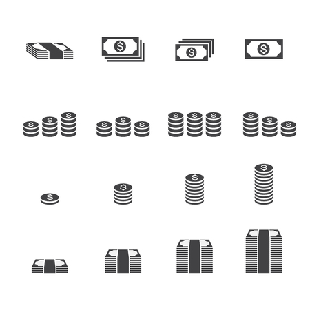 paper currency: Money icon. Illustration