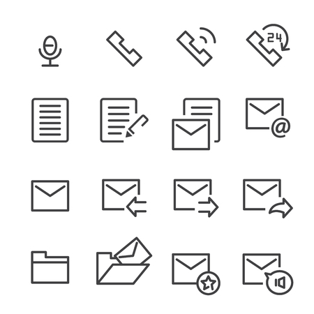 Mail and call icon. Illustration