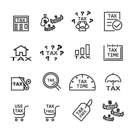 tax line icon Ilustrace