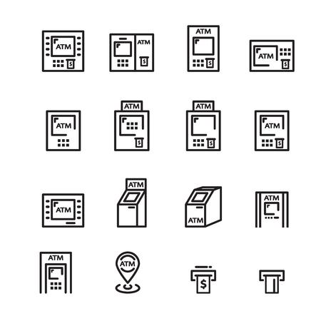 atm line icon Illustration