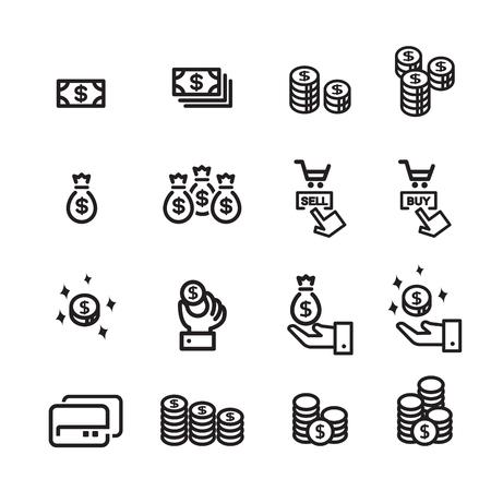 money line icon set 2 Illustration