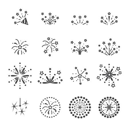 firework icon,line vector.