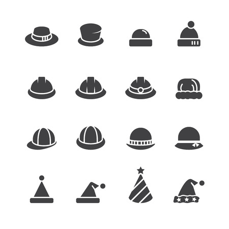 Hut-Icon-Set Vektorgrafik