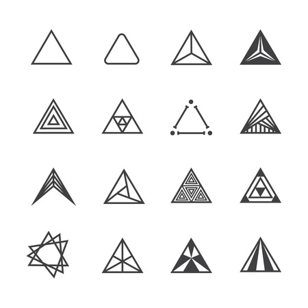 triangle icon set Illustration
