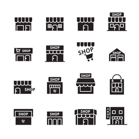 shop building line icon. set of design element