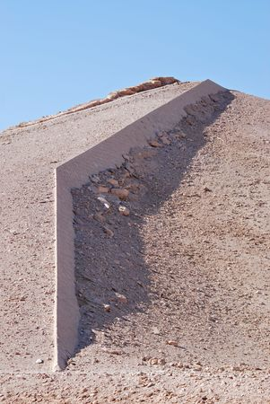 torrid: abstract wall  construction in the desert