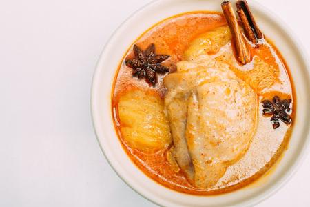 Curry jaune au poulet appelé