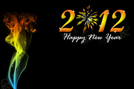 Happy New Year 2012 no.1 Stock Photo - 11781210