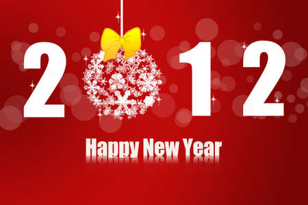 Happy New Year 2012 no.3 Stock Photo - 11781212