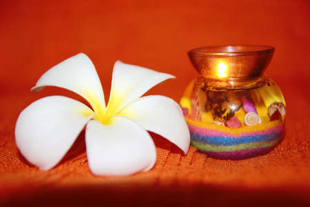 Beauty candle with flower Stock Photo
