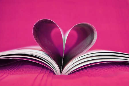 Pink heart book Stock Photo - 11781342