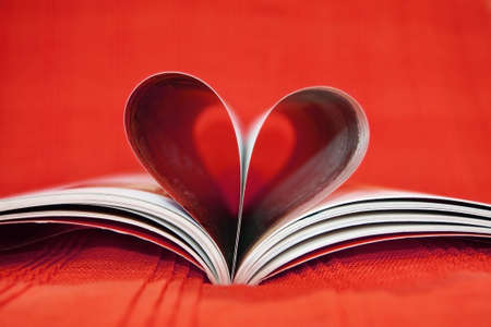 Red heart book Stock Photo
