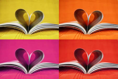 Mix heart book photo