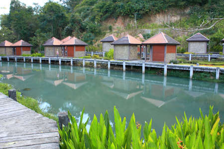 Hot springs village in Chiangmai,Thailand
