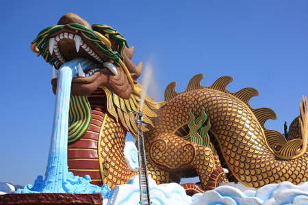 Large dragon china style in Thailand