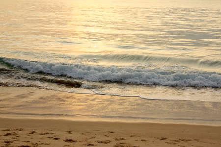 Surf beach just before sunset Stock Photo