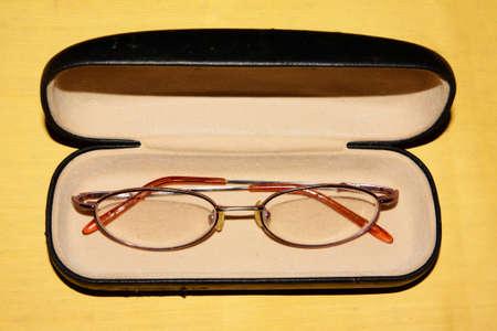 Eyeglasses on the box