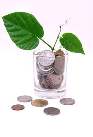 Money glow concept Stock Photo