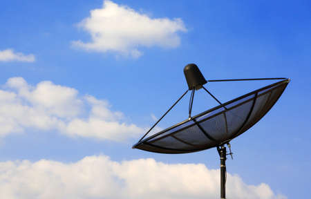 Sattelite dish with blue sky photo
