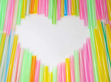 Heart shape Colorful Straw
