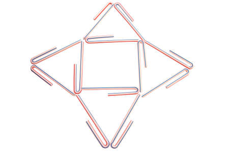 flexible business: Business diagram from flexible straw  Stock Photo