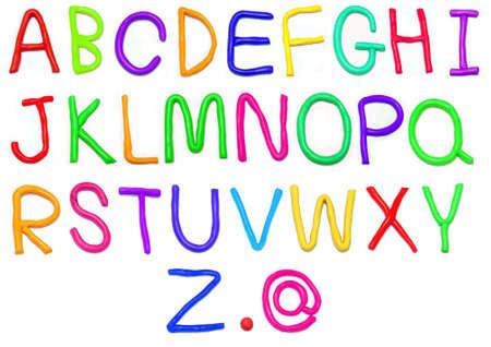 Plasticine alphabet  a-z