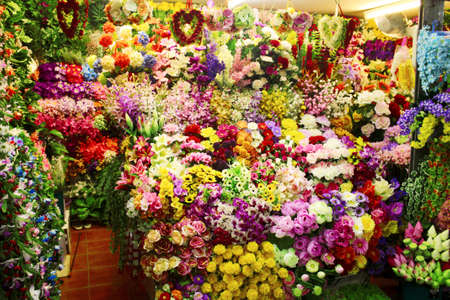 Many beautiful fake flowers