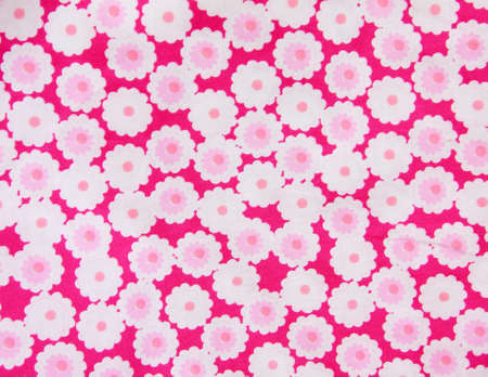 Pink floral fabric  Stock Photo