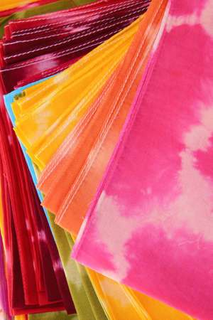 Colorful Tie-Dye fabric Stock Photo