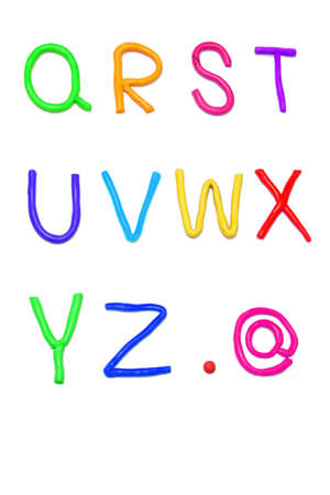 Plasticine alphabet  q-z