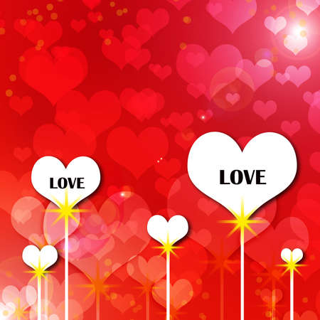 Red Heart background Stock Photo - 13714079