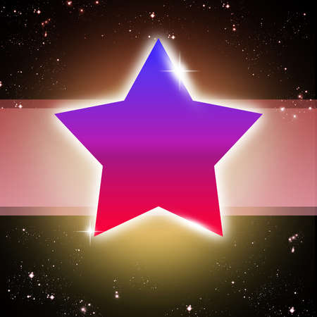 Star abstract background Stock Photo - 13829740