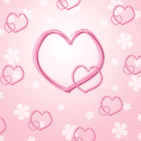 Pink heart abstract background Stock Photo - 13829733
