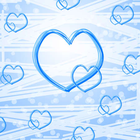 Blue heart abstract background Stock Photo - 13829743