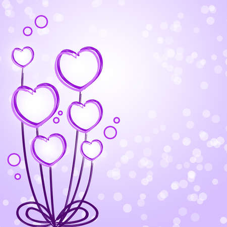 Purple heart flower abstract background Stock Photo - 13829739