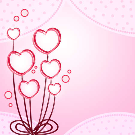 Pink heart flower abstract background Stock Photo - 13829734