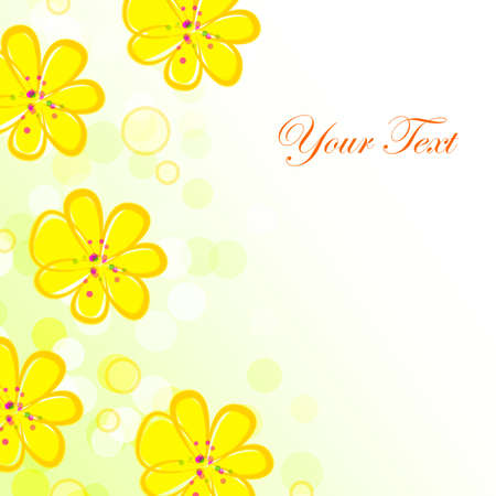 Yellow Flower background Stock Photo - 13895572