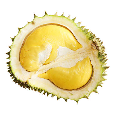 Durian isolated on white background. The king of fruit   photo