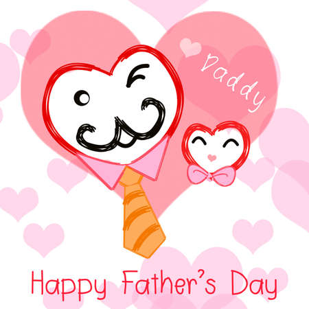 Happy father day greeting card.I love daddy. photo