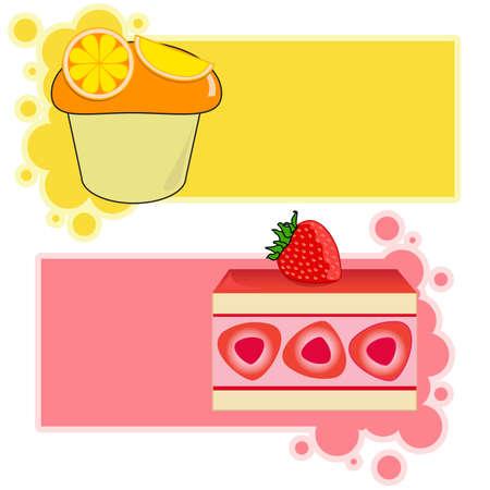 Orange and Strawberry cupcake card