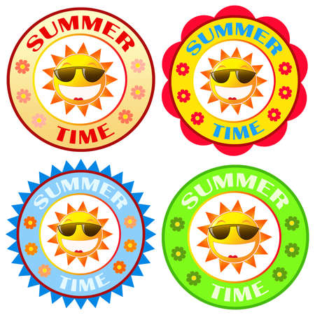 Sun logo and icon.Summer time. photo